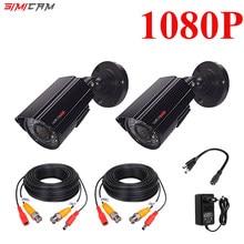 SIMICA1080P AHD güvenlik kamera 2PCS2MP/5MP Bullet kiti açık hava koşullarına dayanıklı konut 66ft süper gece görüş IR CCTV video kamera