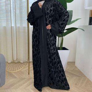 Opened Abaya Kimono Kaftan velvet Muslim Cardigan Hijab Dress Abaya female Turkish Islamic Clothing Caftan Dubai Djellaba F1352
