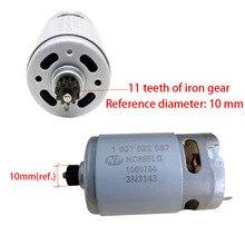 Moteur hc685lg ONPO moteur 1607022587 18V 11 dents, pour lentretien de la gsr18 2 li Bosch 3601ja4300 perceuse