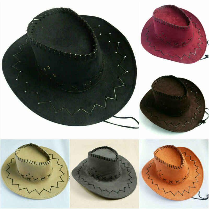 ホット販売レディースメンズユニセックスデニムカウボーイ帽子野生の西ファンシーカウガールカウボーイハットカジュアルソリッドファッション西洋帽子キャップ