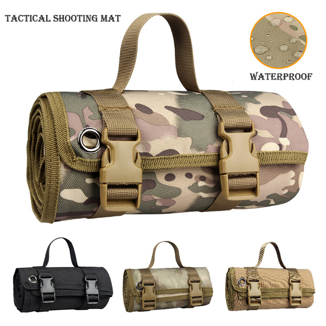 Outdoor Camping/Hunting Training EDC Tactical Shooting Mat Shooters Lightweight Roll-Up Military Airsoft Gun Pad Accessories 1
