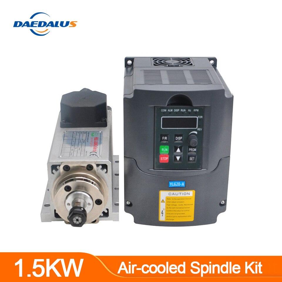 13 piezas de collet ER11 0,5 kW convertidor de velocidad del eje del motor de fresado CNC 500 W refrigerado por aire barra de extensi/ón de collet ER11 para soporte de 52 mm