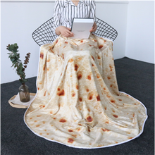 Simanfei 3D Corn Tortilla Blankets Wool Print Round Throw Blanket Thin Soft Plush For Sofa Bed Home Decoration Burrito Carpet
