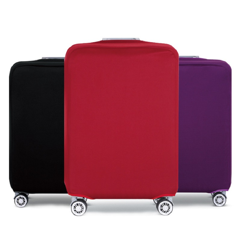 Travel Luggage Portable Dust Cover Suitcase Protective Elastic Cover Apply To 18-32inch Pure Colors Accessorie Baggag Cover