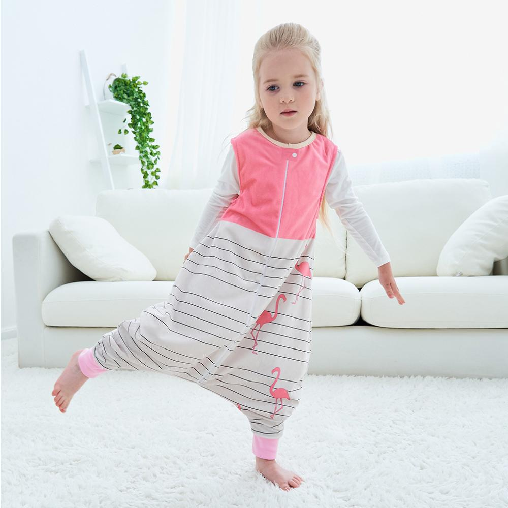 MICHLEY Newborn Cute Cartoon Sleeveless Sleeping Bag Toddler Infant Stroller Polyester Zipper Autumn Winter Keep Warm Bedding