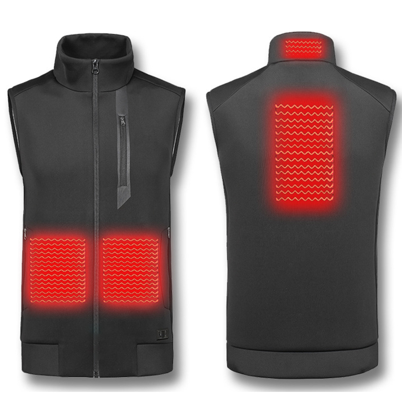 ZYNNEVA Winter USB Smart Heating Vest Men Women Outdoor Self Heated Coat Carbon Fiber Fashion Heated Warm Hiking Clothing GC1128