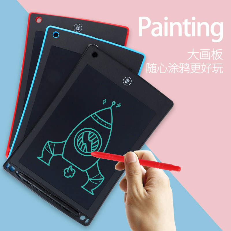 8.5-Inch Tablet LED Liquid Crystal Creative Handwriting Board Children WordPad Graffiti Painted Notebook Small Blackboard