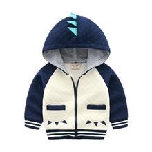 Spring Autumn Cotton Hooded Jackets for Kids Toddler Baby Boy Girl Cartoon Animal Zipper Boys Coat Tops Childrens