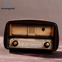 Strongwell Europe Style Radio Model Retro Nostalgic Ornaments Home Decoration Accessories Ornament Gift Antique