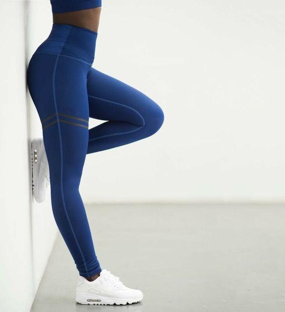 Women's Pants Fitness Leggings Printed High Waist Pants Running Gym Sport  Jogging Pants Trousers 6