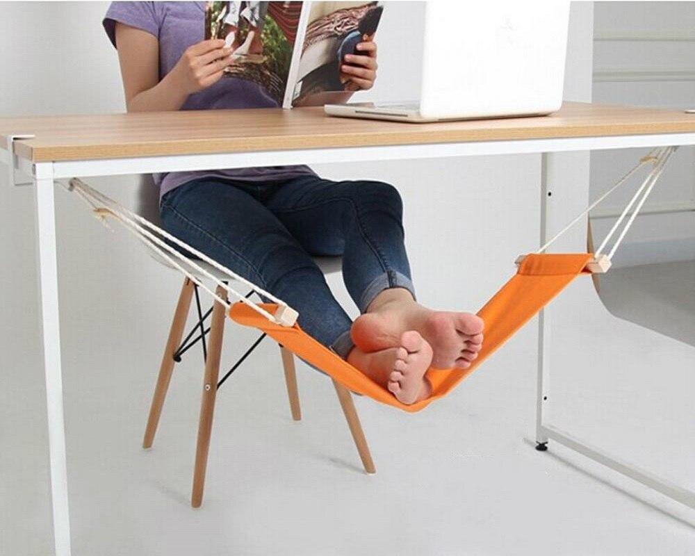 New Aircraft Welfare Of Office Home Office Foot Rest Desk Feet Hammock Surfing Internet Hobbies Outdoor Rest Durable 10 colors