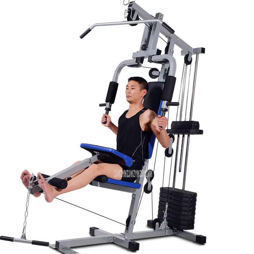 Multi-functional Single Person Stand Trainer Upper Pulling Rod Rowing Pole Kick Exercise Home Gym Combination Strength Equipment
