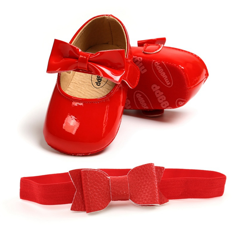 Baywell Autumn Baby Girl Anti-Slip Casual Walking Shoes Bow Sneakers Soft Soled First Walkers