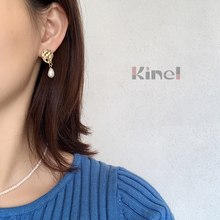Kinel 100% 925 Sterling Silver Natural Baroque Pearl Earrings 18K Gold Top Quality Boho Jewelry Silver Earrings for Women