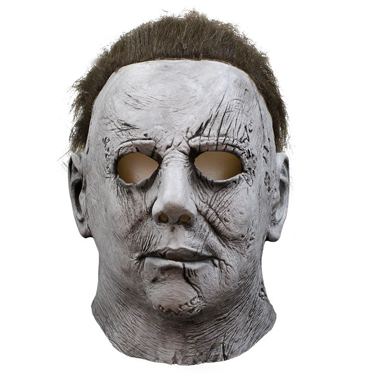 Halloween Mask Mike Mel Moonlight Panic <font><b>Terror</b></font> Latex Horror Michael Myers Mask Cosplay Full Face Helmet Party Scary Props Toy image