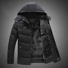 New 2019 Men Jacket Coats Thicken Warm Winter Windproof Jackets Casual Mens Down Parka Hooded Outwear Cotton-padded Jacket zipper buttons hooded mens thicken down jacket