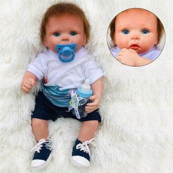 Rebirth Infant Doll 15inch High Quality Simulation Baby Doll Soft Silicone Reborn Doll Hot Selling Newborn Doll Birthday Gifts