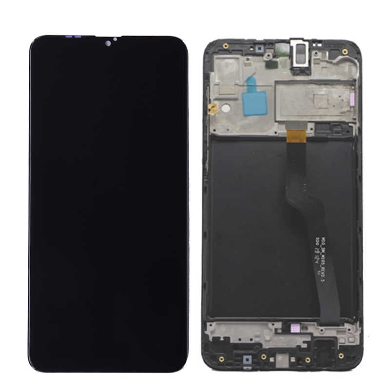 "Super AMOLED 6,2 ""LCD Für SAMSUNG Galaxy A10 LCD A105 A105F SM-A105F LCD Display Touch-Screen-Digitizer Mit Rahmen"