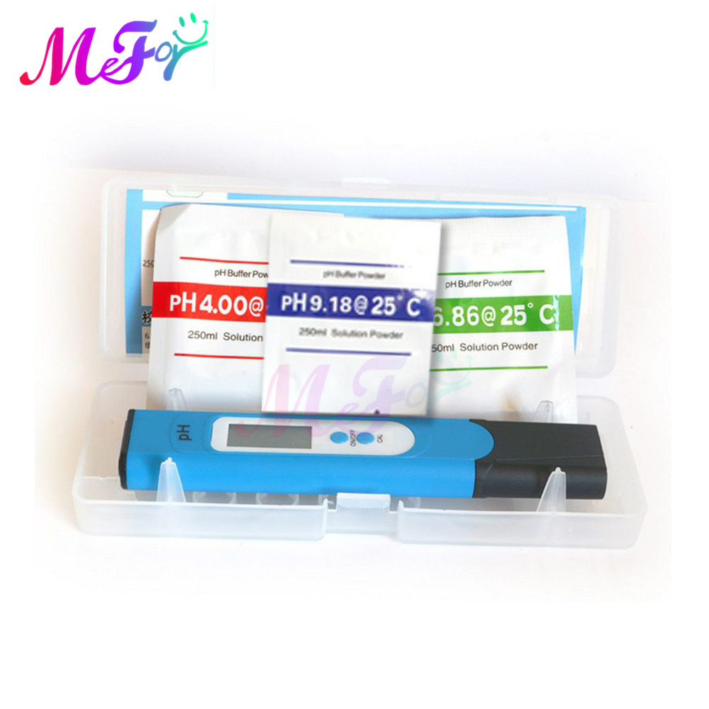 Portable Digital ATC PH Meter 0.00~14.00 Water Tester Pool PH Monitor With Case+Battery4.01/6.86/9.18 PH Meter Calibration Point PH Meters  - AliExpress