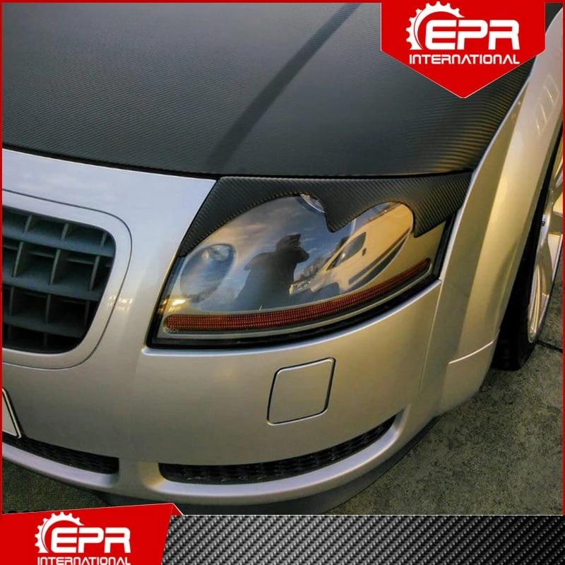 Car Styling For Audi 2000 2006 Tt Mk1 Type 8n Carbon Fiber Headlight Trim Eyebrow Eyelid Body Kit Tuning For Tt Mk1 Racing Awnings Shelters Aliexpress