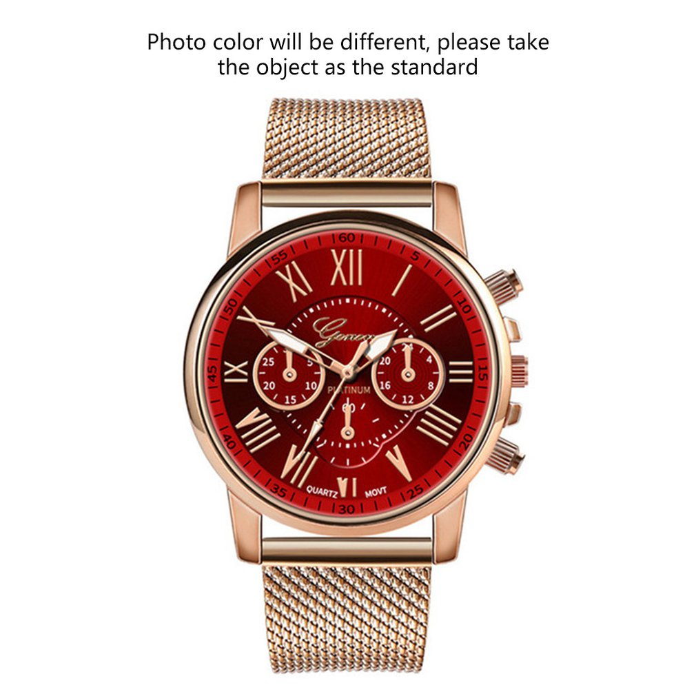 Watch Women'S Watch Women'S Watch Double Face Women'S Watch Silicone Mesh With Silicone Plated Strap