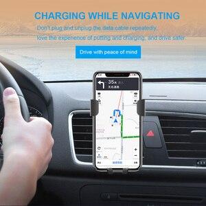 Image 5 - FDGAO Auto Mount Qi Draadloze Oplader Voor iPhone 11 Pro XS Max X XR 8 Snelle Draadloze Opladen Auto Telefoon houder Voor Samsung S9 S10