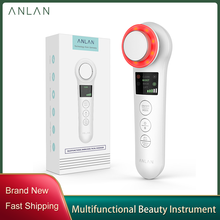 ANLAN EMS Facial Massager Micro Current Beauty Face Massager Sonic Vibration Wrinkle Remover Hot Cool Ultrasonic Face Lifting