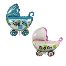 pram Newborn Kids Party Angel Baby shower foil balloons Boys Girls Birthday Party decoration air globos(China)