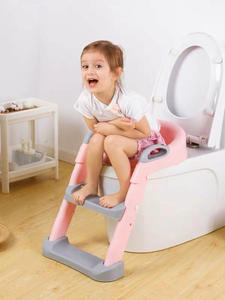Potty-Seat Urinal Toilet-Potties Step-Stool-Ladder Training-Chair Backrest Folding Toddlers