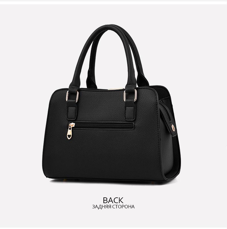 Designer Brand Bags Ladies Leather Tote Bag 2020 Luxury Ladies Handbag Wallet Fashion Shoulder Bag 12