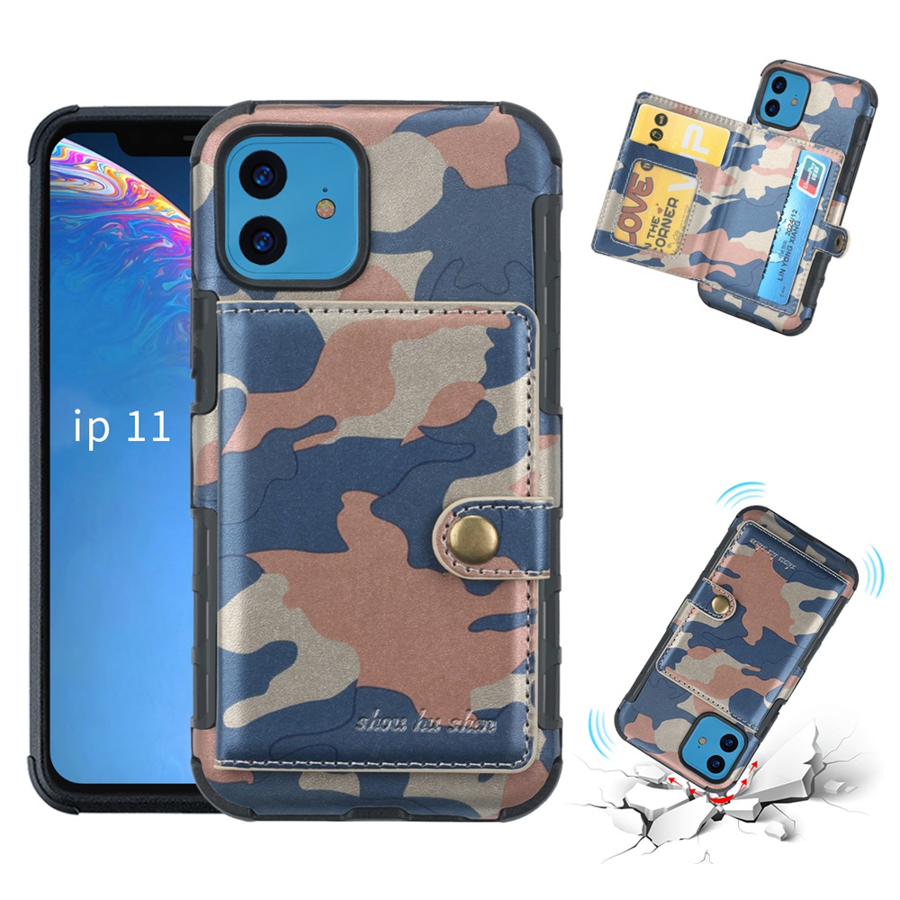 Brand camouflag pattern Wallet Cover for iPhone6 7 8 Plus Protection Flip <font><b>case</b></font> With <font><b>Card</b></font> Pocket For <font><b>IphoneX</b></font> XS MAX XR 11pro Max image