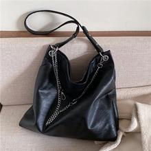 Burminsa Big Soft Women Hobo Bags Large Capacity Chain Female Shoulder