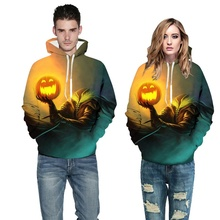 Plus Size Autumn New Halloween Pumpkin Lamp 3d Printed Hooded Sweatshirt sudaderas mujer 2019 Couple Casual Hoodies Pullovers