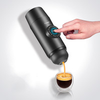 Portable Electric Coffee Mechine Mini Nespresso Coffee Maker Built in Battery Hot/Cold Extraction Powder&Capsule Outdoor Travel