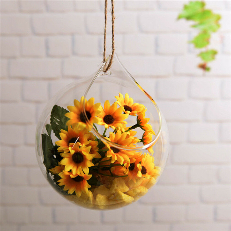 Hanging Glass Terrarium Container and Flower Plant Pot for Party/Wedding Decor 3