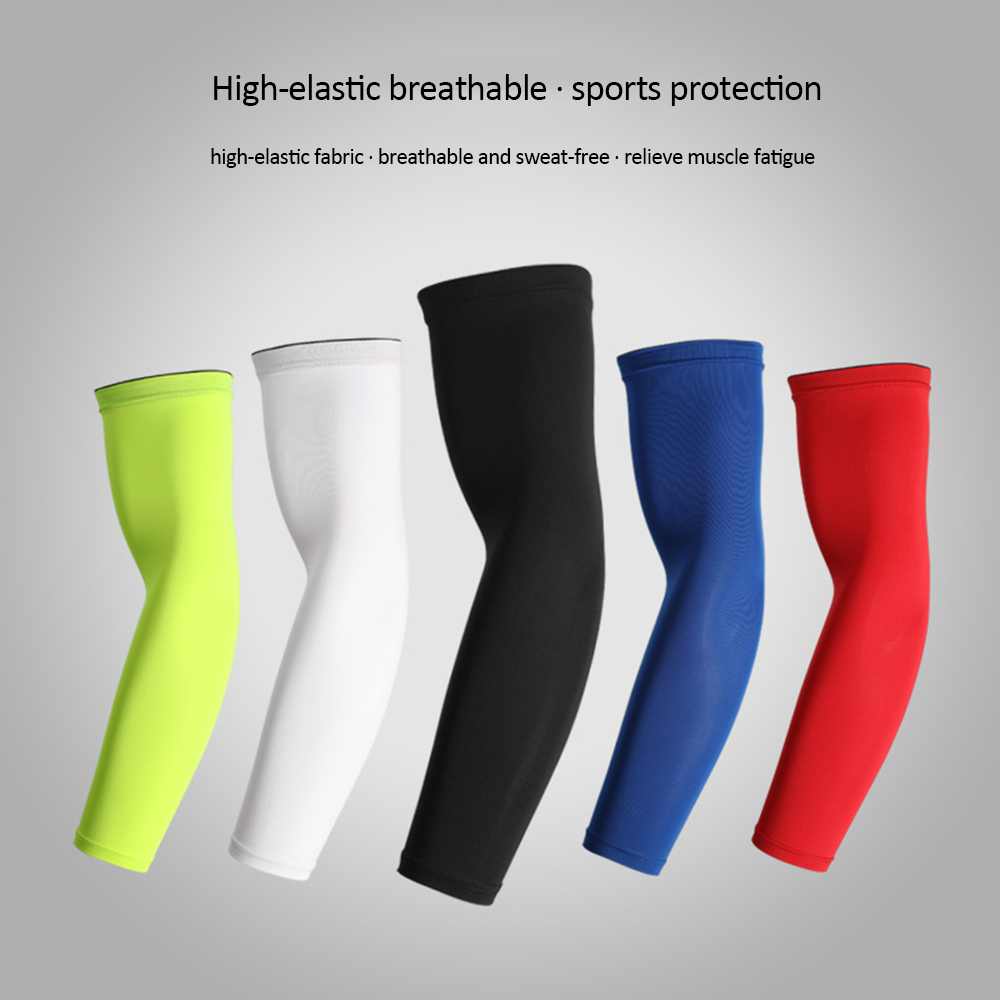 1Pc Unisex Breathable Arm Sleeve Non-Skid Outdoor Cooling Arm Sleeves Sun Protection Cuff Arm Warmers For Cycling Running Sports