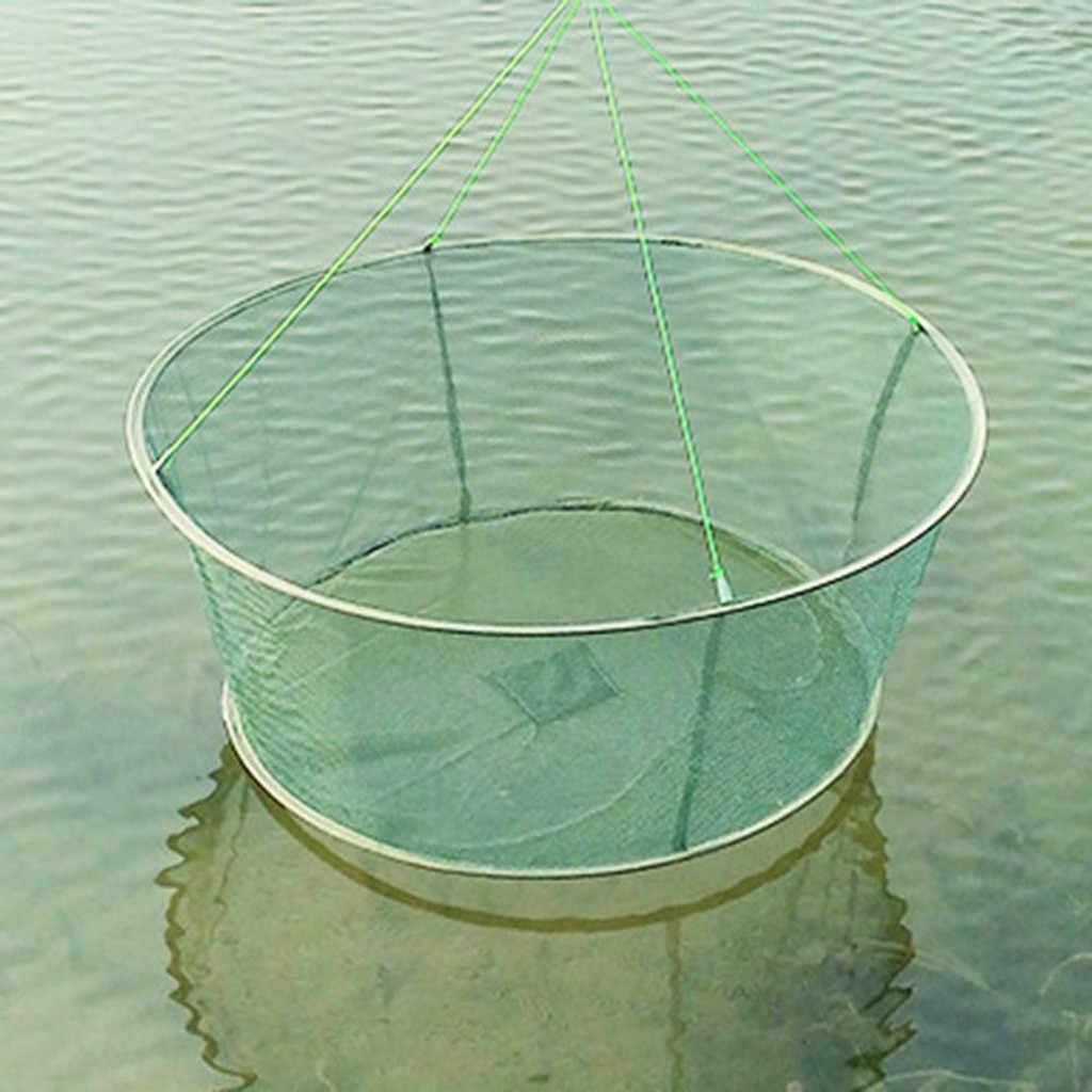 Opvouwbare Drop Netto Vissen Schepnet Garnaal Aas Krab Garnalen Open Vouwen Moving Netten Moving Vliegers Lifting Netten Vissen tool Netto