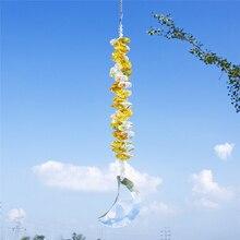 Ornament Prisms Suncatcher-Decor Crystal Crescent-Moon Garden Window Rainbow-Cascade