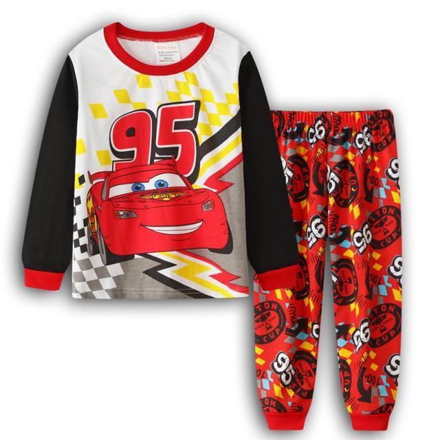 Cars 3 Pyjamas Boys Pjs Red Lightning McQueen Pyjama Set T2TC544 S22