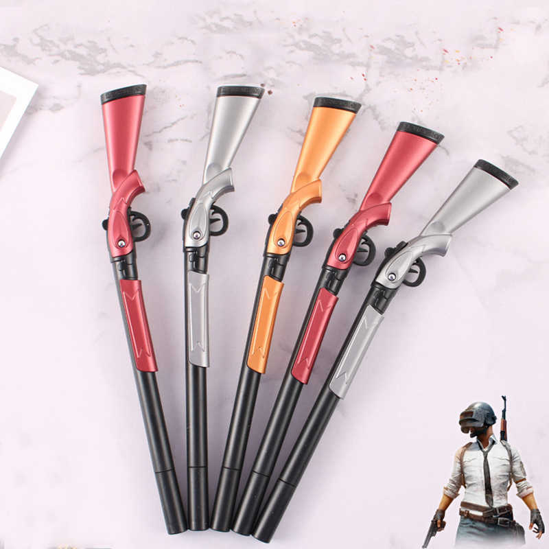 1PC Kreative Simulation Gun Gel Stift Kawaii 0,5mm Schwarz Tinte Stift für Jungen Weihnachts Geschenk Studenten Schreibwaren Schule büro Liefert