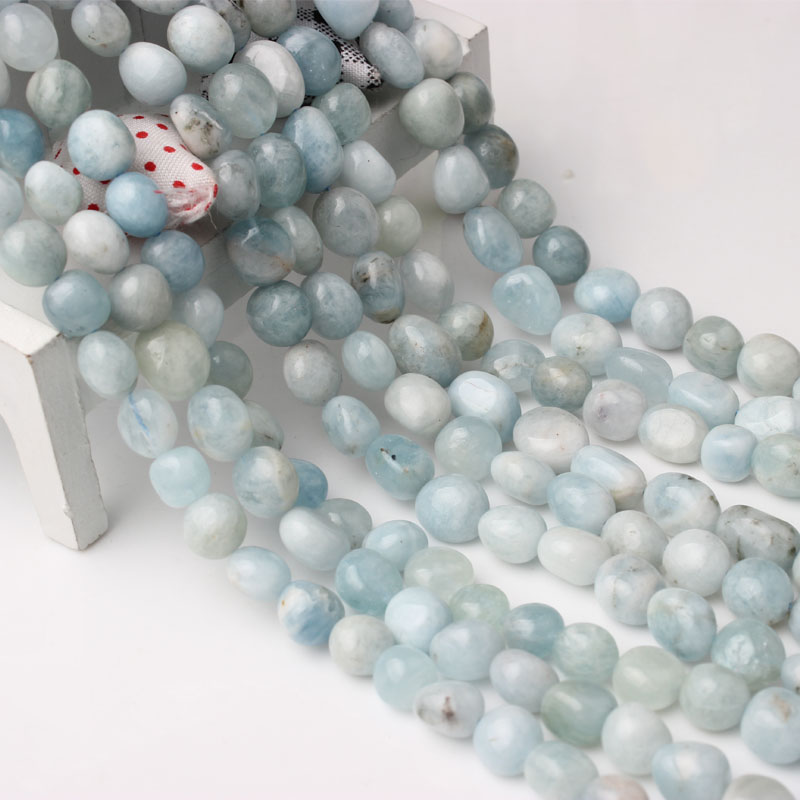 Linxiang natural sea blue Treasure Loose beads 6x8/8x10mm suitable for jewelry production DIY Bracelet Necklace