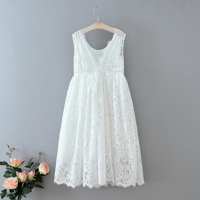 70-7-White Lace Girls Dress