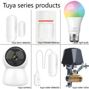 Image 5 - EARYKONG caméra Tuya, Tuyasmart caméra connectée IP HD 720P, wi fi, moniteur, interphone, Rotation, Vision nocturne, application Android et IOS
