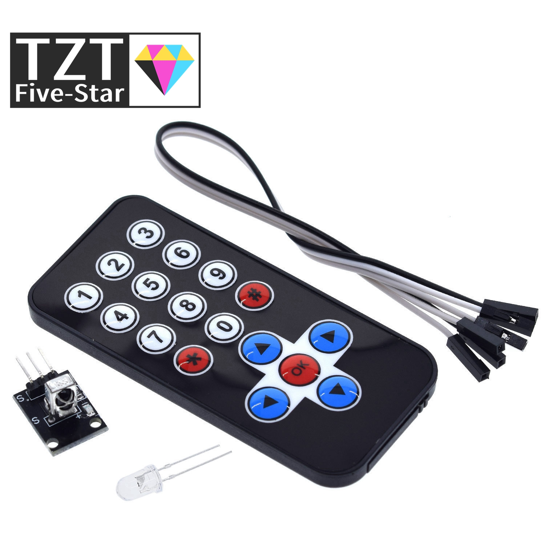 TZT 1LOT Infrarot IR Drahtlose Fernbedienung Modul Kits DIY Kit HX1838 Für Arduino Raspberry Pi