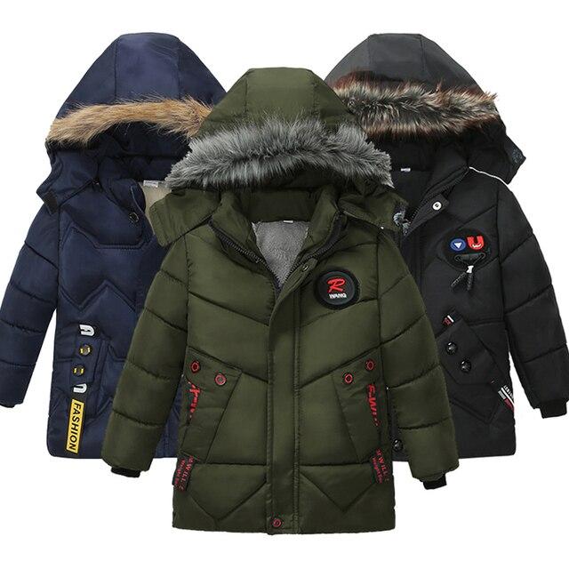 Boy Down Jacket 2020 Winter Warm Baby Boys Star Hooded  Wear Down Jacket