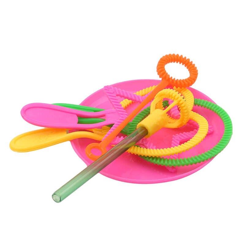 6 יח'\סט נושבת בועה עבור חיצוני צעצוע מצחיק בועת שרביט כלי סבון בועה להתרכז מקל סבון בועות בר מתנות אקראי צבע