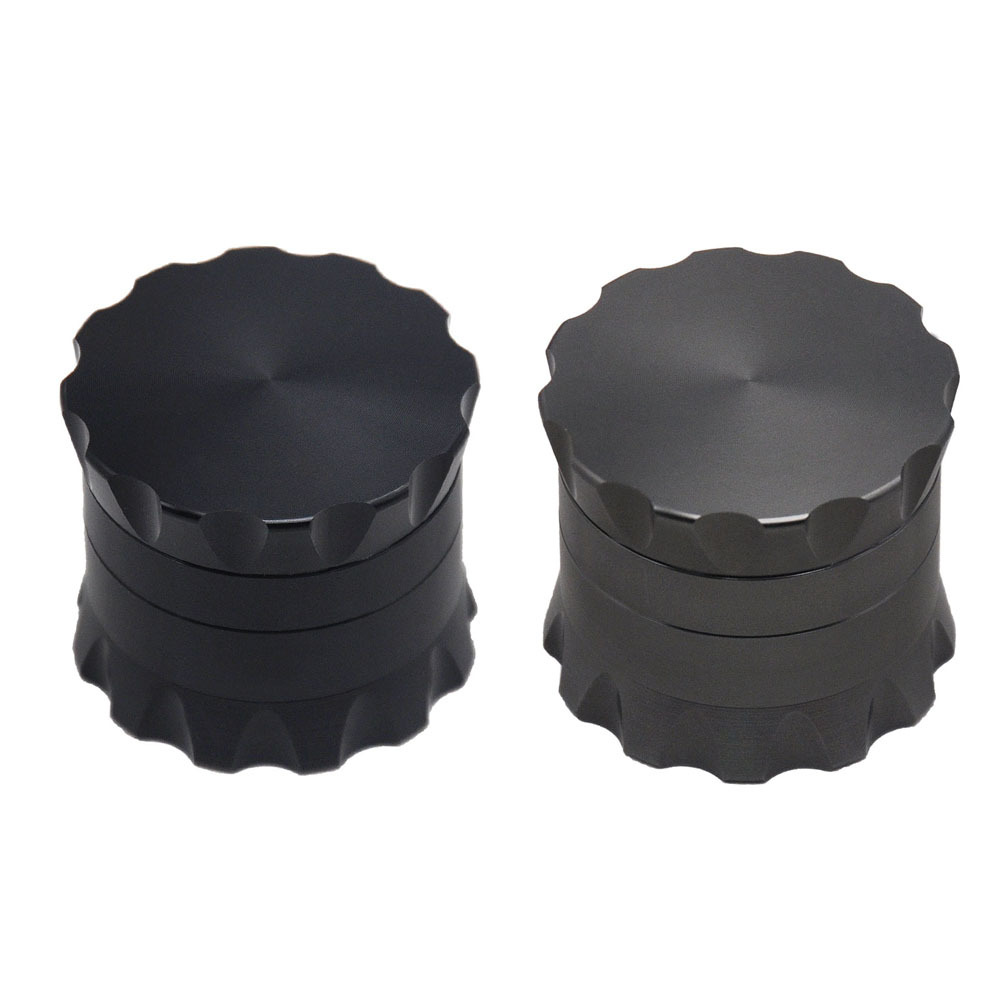 Drum Style Metal Smoking Grinders With Pollen Catcher 50MM 4 Piece Aircraft Aluminum Herb Grinder Suit Pipe 5