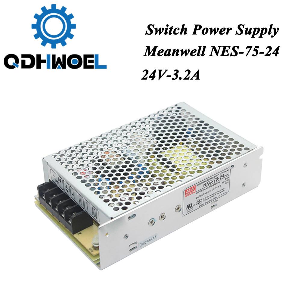 Taiwan <font><b>Meanwell</b></font> Switching Power Supply NES-75-24 <font><b>24V</b></font> 3.2A 75W for Laser Controller Single output DC Power Supply image