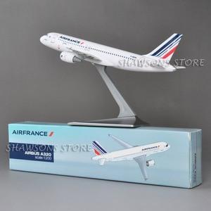 Image 3 - 1:200 בקנה מידה מטוסי דגם צעצוע אוויר אוטובוס A320 אוויר צרפת מטוס מטוס העתק מיניאטורי אוסף
