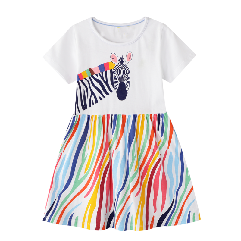 Vestidos para niñas pequeñas, marca de ropa de algodón, vestido de princesa de Navidad, vestidos de unicornio para niños, ropa para niños, vestido de niña bebé